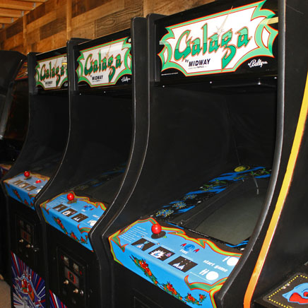 3 Galaga Arcade Machines