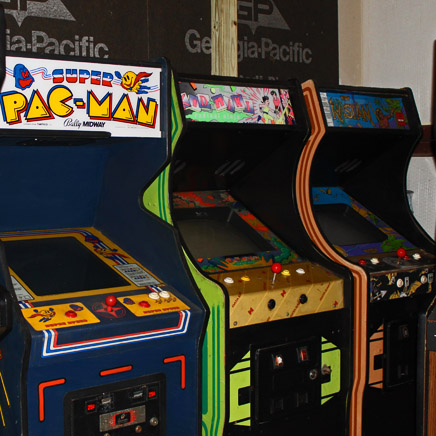 Super PacMan coin operated arcade machines movie prop rentals