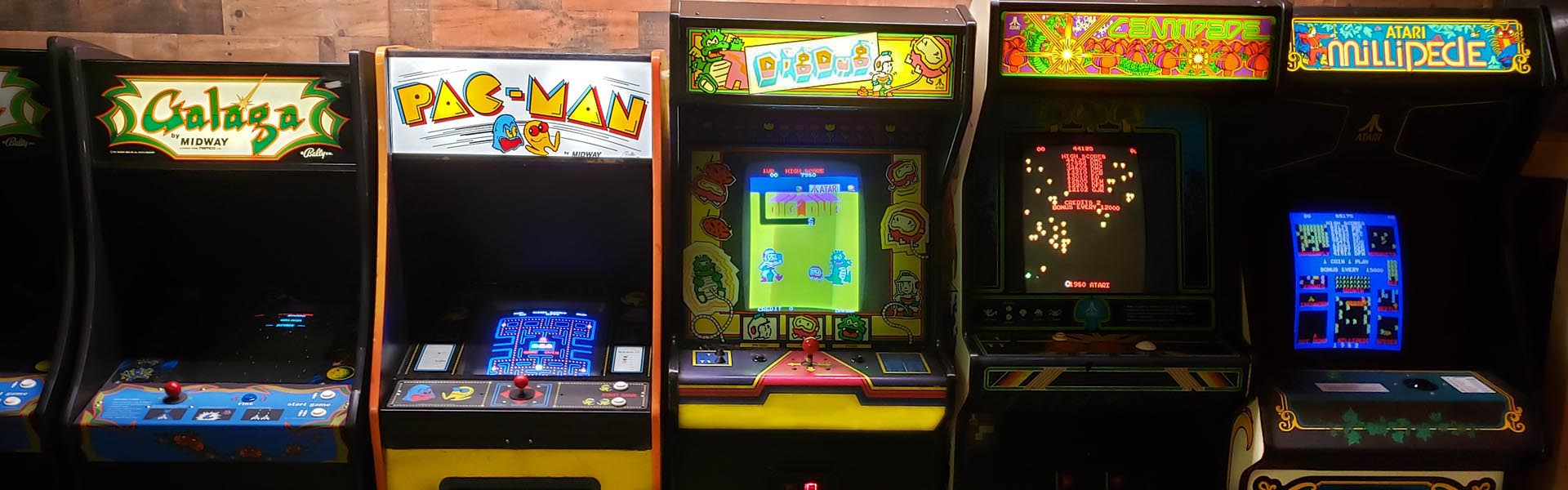 Galaga, Pac-Man, Dig Dug, Centipede, Millipede Movie Prop Rentals Arcade Games